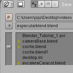 Animación 3D, Ficheros: Guardar la escena [Blogs experimentales] [Blender]