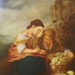 Pintura con Pastel: María Jesús Casati: Joven Vendedora