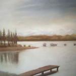 Pintura con Pastel: María Jesús Casati: El embarcadero