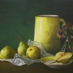 Pintura con Pastel: María Jesús Casati: Jarra y Peras
