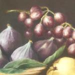 Pintura con Pastel: María Jesús Casati: Frutas de otoño
