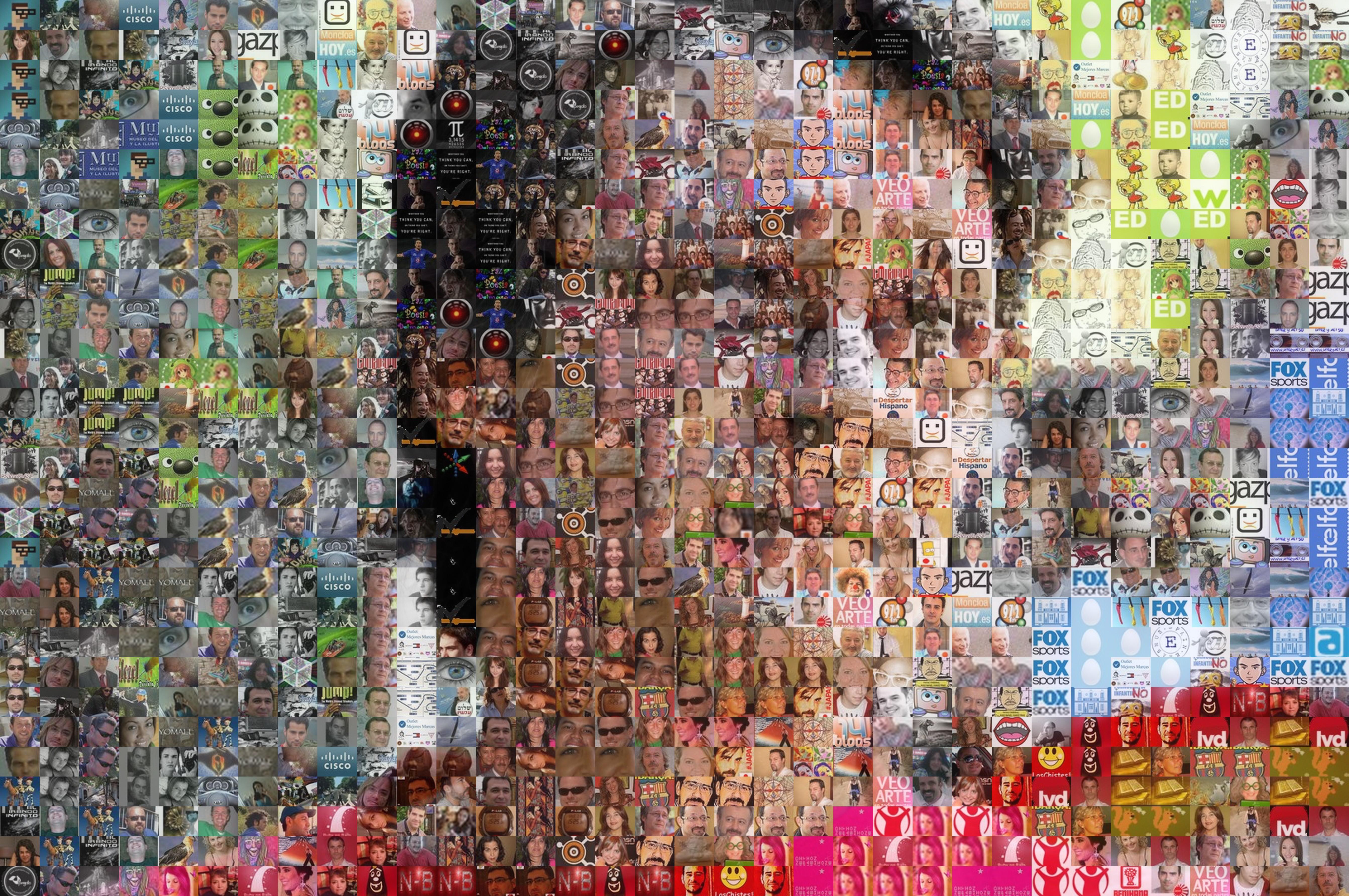 C mo hacer un mosaico de una fotograf a con im genes - Hacer reloj de pared con fotos ...