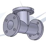 p44 pieza tubería dibujo técnico 3D