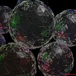 Fondos de escritorio: Navidad 2011 (II) : Bolas de cristal [ Imagen 1280×1024 ]