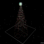 Fondos de escritorio: Navidad 2011 (V) : Árbol de navidad geométrico: helicoide de cubos[ Imagen 1280×1024 ]