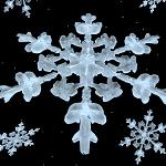 Copo nieve realista