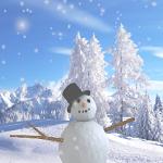 Muñeco de nieve. Gif animado 150 x 150