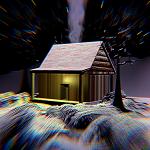 Casa en sueño navideño