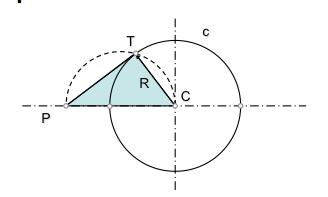 tangente a circunferencia desde un punto