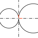 Metric geometry : Radical axis of two circles