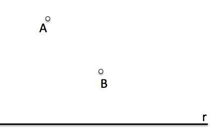 Datos para definir el Problema fundamental de tangencias