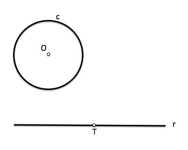 Enunciado del problema de tangencias con condición de punto de paso