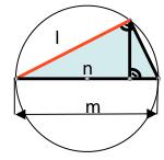 Teoremas de la altura y del cateto