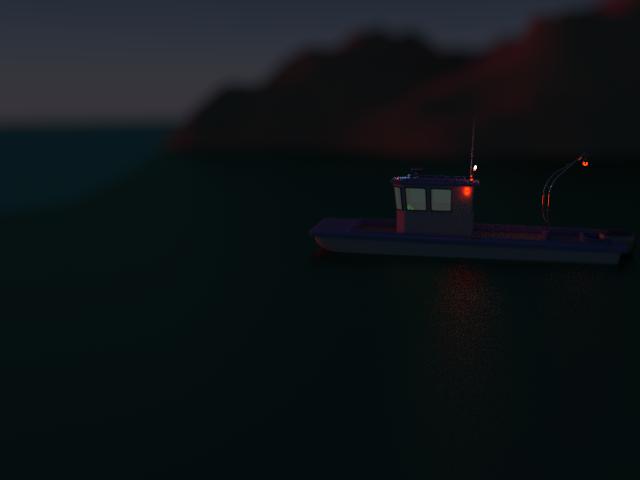 Detalle de un pesquero