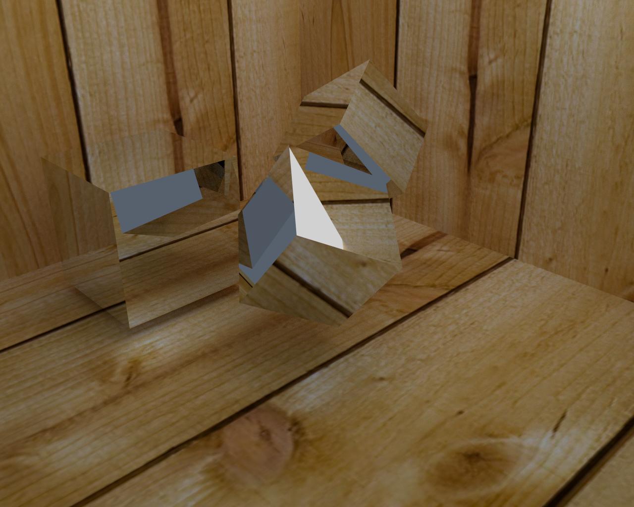 Cubos reflectantes con fondo de madera wallpaper - Cubos de madera ...