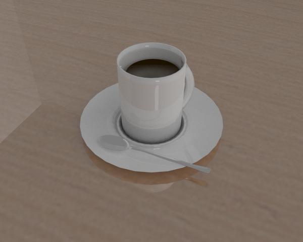 Taza de café realizada con Cycles
