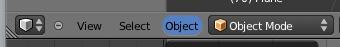 Menú Object