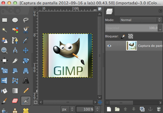 GIMP en ventana única