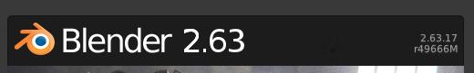 Al iniciar Blender podemos ver el número de revisión o compilación