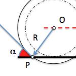 Geometría métrica: Circunferencias con condiciones angulares. Problema I