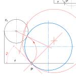 Geometría métrica: Circunferencias con condiciones angulares. Solución al Problema I