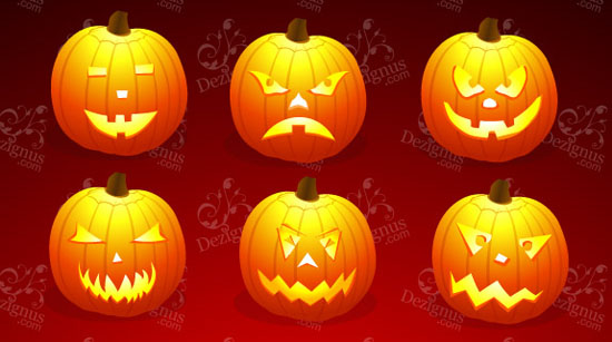 6 calabazas de halloween