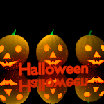 Tres calabazas de Halloween [ Wallpaper ]