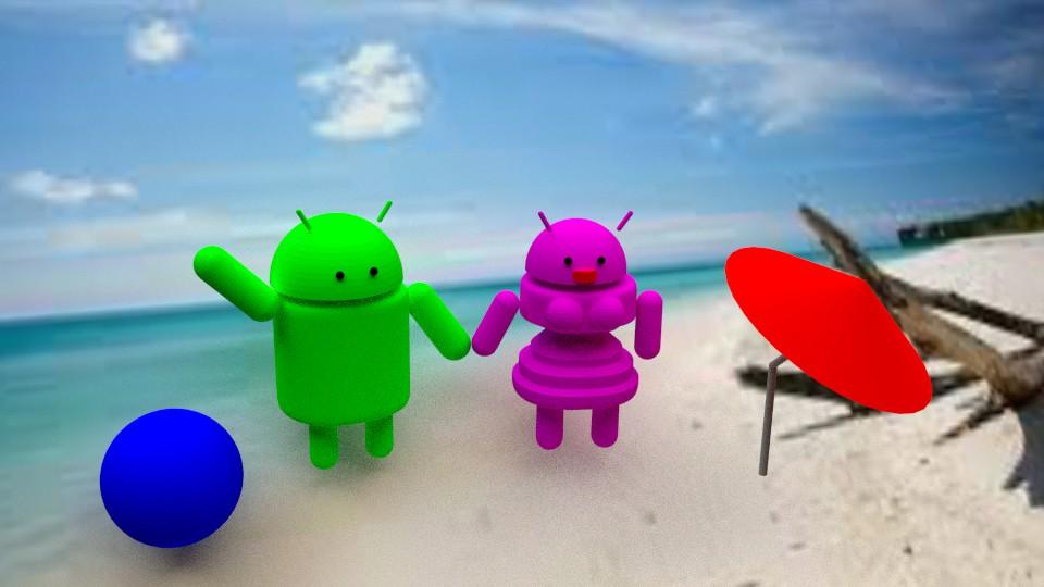 Android de vacaciones