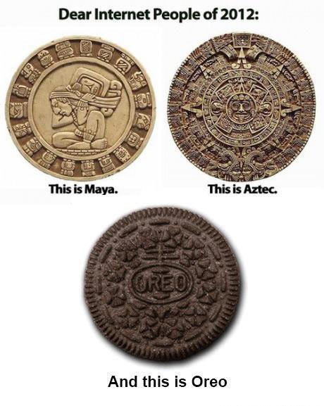 Calendario Maya, Azteca y galleta Oreo