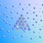 ورق الجدران: عيد ميلاد 2012 (الثامن عشر) : شجرة عيد الميلاد نجوم [ Imagen 1280×1024 ]
