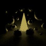 Fondos de escritorio: Navidad 2012 (XVI) : Árbol de navidad geométrico emisivo [ Imagen 1280×1024 ]