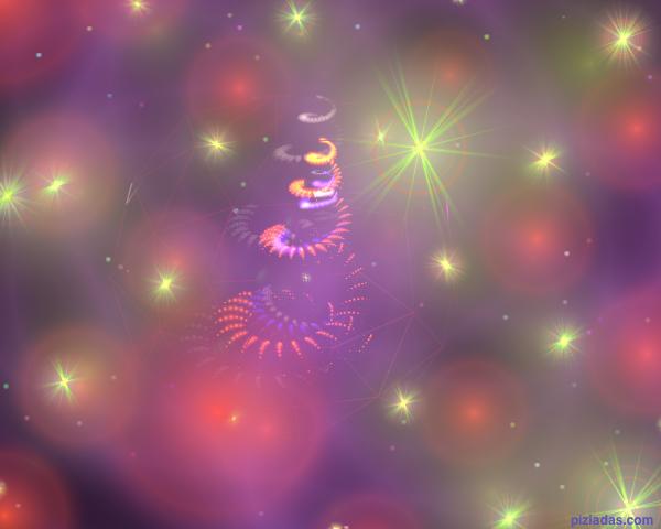 Árbol de navidad con halos