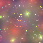 ورق الجدران: عيد ميلاد 2012 (التاسع عشر) : رمزية شجرة عيد الميلاد مع هالات [ Imagen 1280×1024 ]