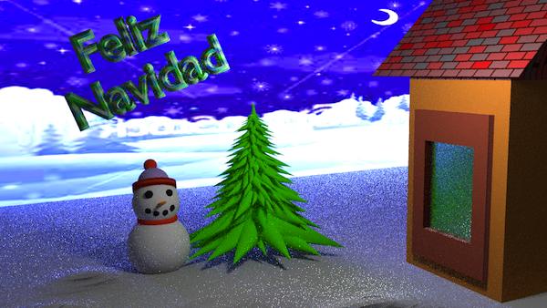 Postal navidad de Cesar Luis Gonzalez de Mendoza Luna
