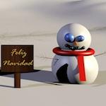 Postal de navidad (VIII) [ Alumnos ] [ Blender ][ Trabajos ]