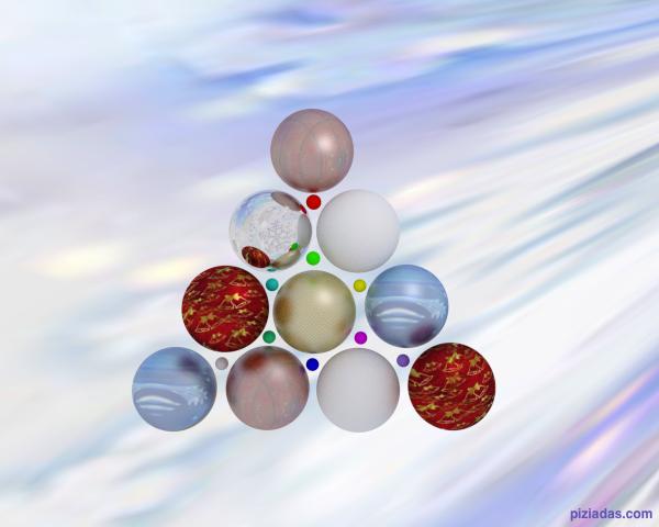 Árbol de navidad figurativo con esferas