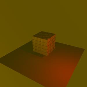 Tonos rojizos modificando los puntos de luz