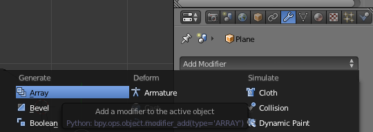 Modificador Array