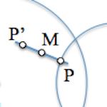 Determinación de un segmento conocido su punto medio [Enunciado]