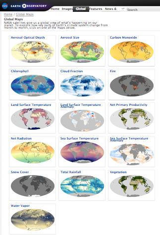Global Maps pages
