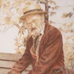 Pintura con Pastel: María Jesús Casati: El abuelo