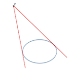 Tangent from a point to a conical