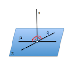 recta perpendicular