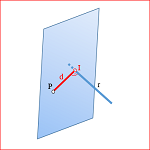 Diédrico System: Distance from a point to a line