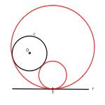 Geometría métrica : Inversión : Aplicación a la resolución de problemas de tangencias y angulares