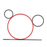 Geometría métrica : Problema de apolonio : rcc