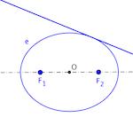 Cónica definida por sus dos focos y una tangente